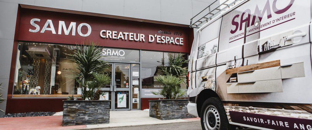 Samo - Camion et magasin avenue Patton