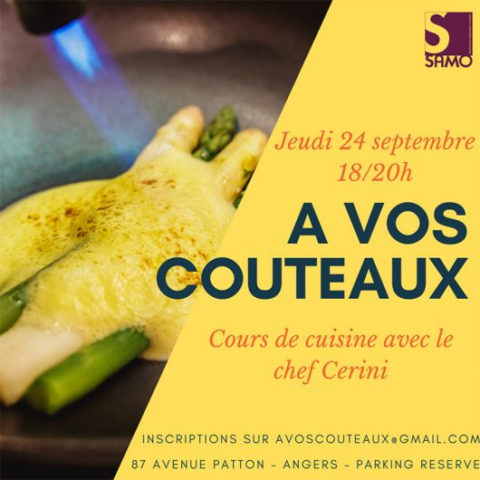 A vos couteaux - Chef Cerini et Samo cours de cuisine
